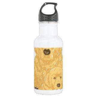 Golden Retriever Stainless Steel Water Bottle