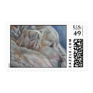 Golden Retriever Stamp