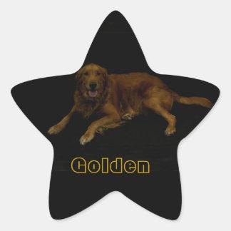 Golden Retriever Star Sticker