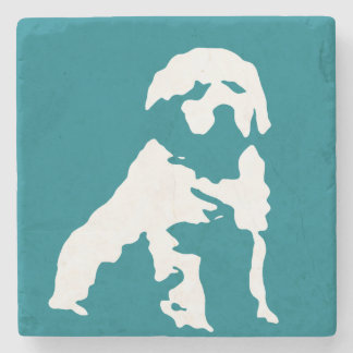 Golden retriever stone coaster