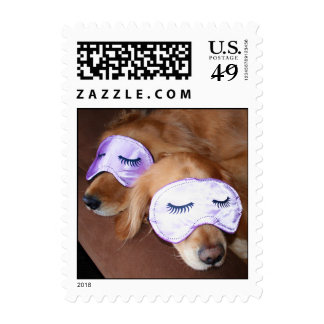 "Golden Retriever ""Sweet Dreams"" Postage Stamp"