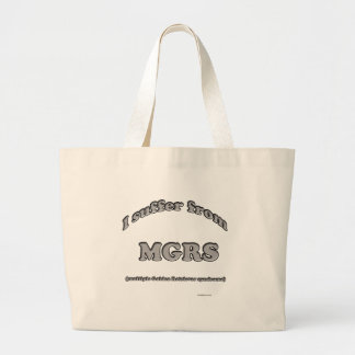 Golden Retriever Syndrome Large Tote Bag