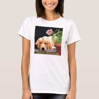 Golden Retriever T-Shirt My Kids Have 4 Legs