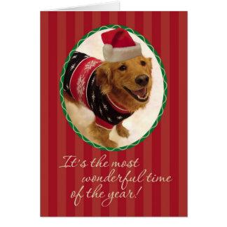 Golden Retriever- Tacky Christmas Sweater Card