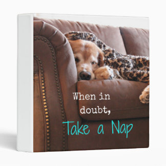 Golden Retriever Take A Nap Binder