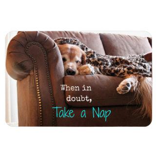 Golden Retriever Take a Nap Magnet
