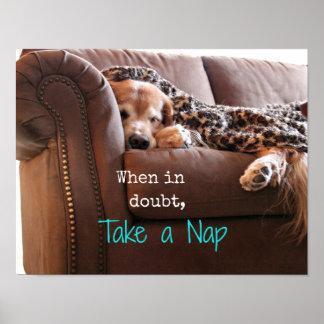 Golden Retriever Take a Nap Print