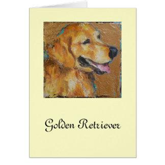 Golden retriever tarjeton