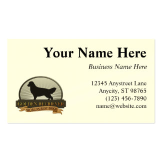 Golden retriever tarjetas de visita