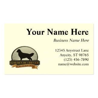 Golden retriever tarjeta de visita