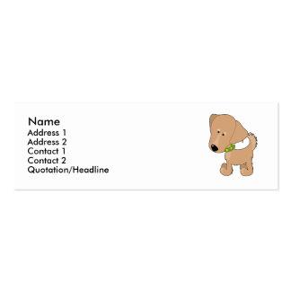 Golden retriever tarjetas de visita mini