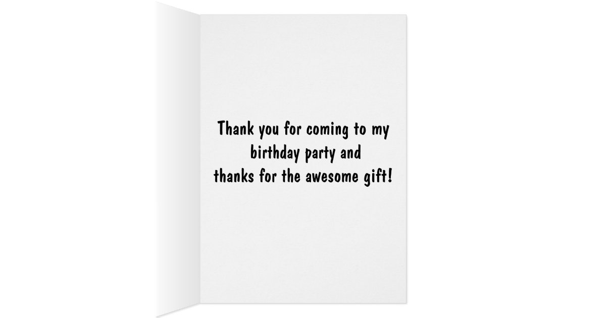 Golden Retriever Thank You Note for Birthday Gift Card