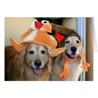 Golden Retriever Thanksgiving Greeting Card