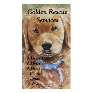 Golden Retriever Themed Business Cards