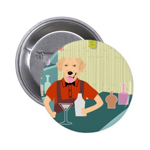 Golden Retriever Tiki Bar Button