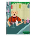 Golden Retriever Tiki Bar Greeting Card