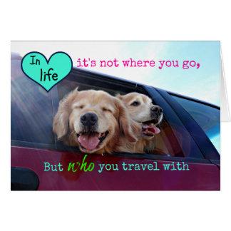 Golden Retriever Travel Friendship Card