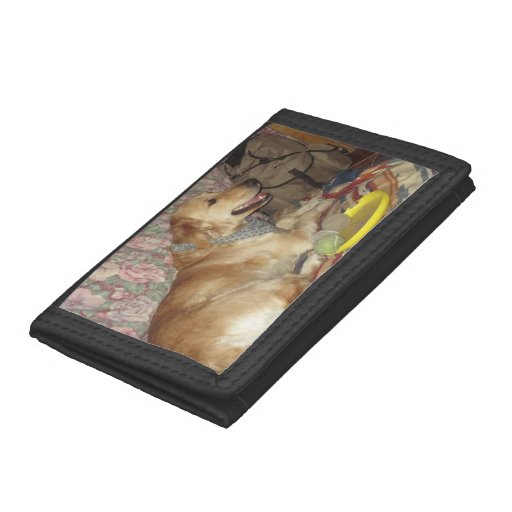 Golden Retriever TriFold Wallet