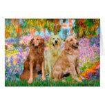 Golden Retriever Trio - Garden Card