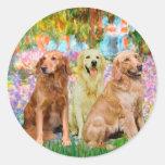 Golden Retriever Trio - Garden Sticker