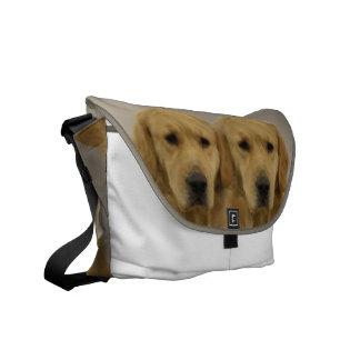 Golden Retriever Twins Messenger Bag
