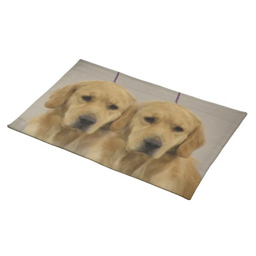 Golden Retriever Twins Placemat Cloth Place Mat