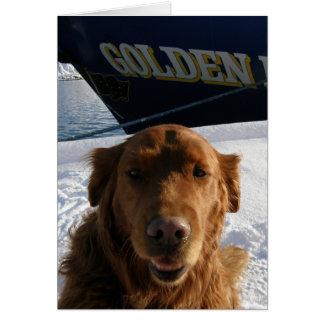 Golden Retriever Valentine Greeting Card