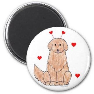 Golden Retriever Valentine Ears Magnet