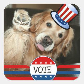 Golden Retriever VOTE Stickers Square Sticker