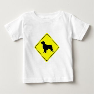 Golden Retriever Warning Sign Love Dogs Silhouette Baby T-Shirt