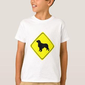 Golden Retriever Warning Sign Love Dogs Silhouette T-Shirt