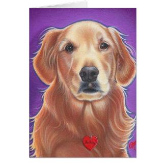 Golden Retriever Wild Dog Card