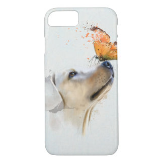 Golden Retriever With a Butterfly on Its Nose iPhone 8/7 Case