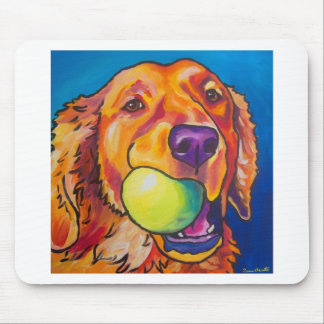 Golden Retriever with ball Mouse Pad