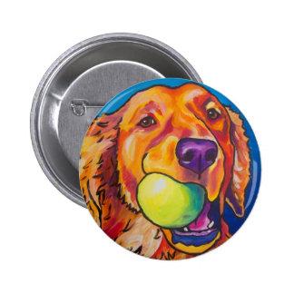 Golden Retriever with ball Pinback Button