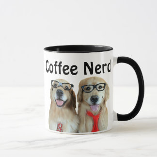 Golden Retriever With Nerd Glasses Mug