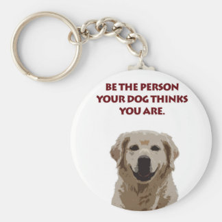 Golden Retriever with nice quote Keychain