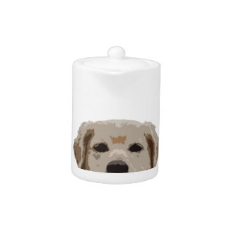 Golden Retriever with nice quote Teapot