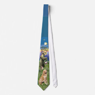 Golden Retriever with Saint Francis Neck Tie