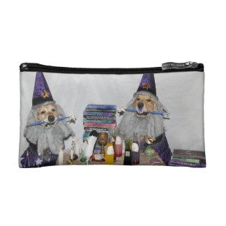 Golden Retriever Wizard's Workshop Makeup Bag