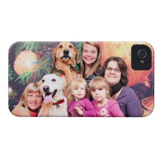 Golden retriever Wrigley del navidad - aliado de L iPhone 4 Case-Mate Funda
