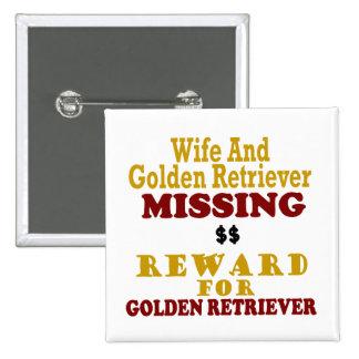 Golden retriever y recompensa que falta de la espo pins