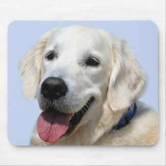Golden Retriever Yellow / White Puppy Dog Mouse Pad