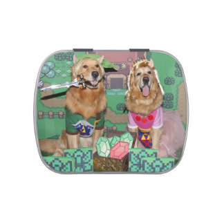 Golden Retriever Zelda and Link Jelly Belly Candy Tin