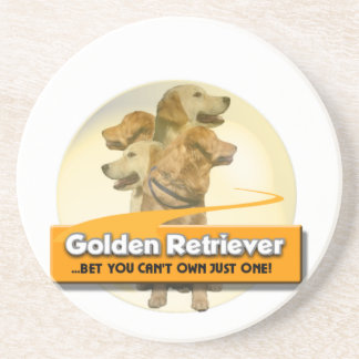 GOLDEN RETRIEVERS - BET YOU CAN'T OWN JUST ONE! COASTER