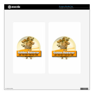 GOLDEN RETRIEVERS - BET YOU CAN'T OWN JUST ONE! DECALS FOR KINDLE FIRE
