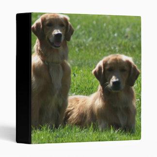 Golden Retrievers Vinyl Binder