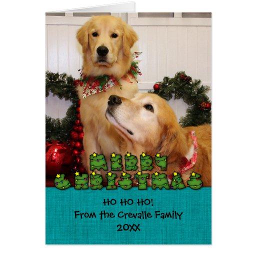 Golden Retrievers Christmas Photocard Greeting Cards