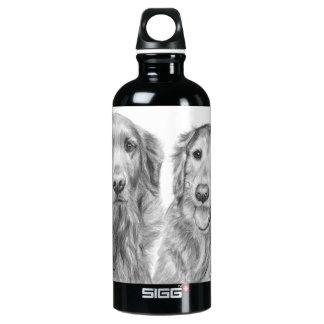 Golden Retrievers Fred and Baxter Aluminum Water Bottle