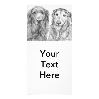 Golden Retrievers Fred and Baxter Customized Photo Card